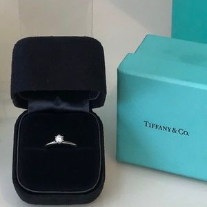 Tiffany Platinum Diamond Ring 0.28ct